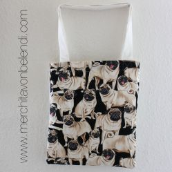 bolsa tela tote bag handmade carlinos pugs