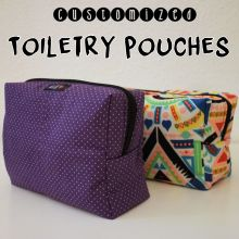 toiletry make up pouch handmade
