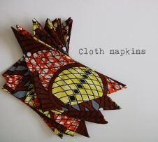 cloth napkins zero waste merchita von belendi
