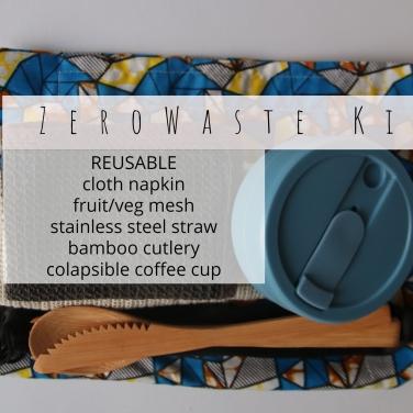 _ Zero Waste TRAVEL Kit reusable